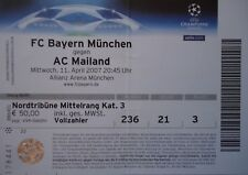 TICKET UEFA CL 2006/07 FC Bayern München - AC Milan