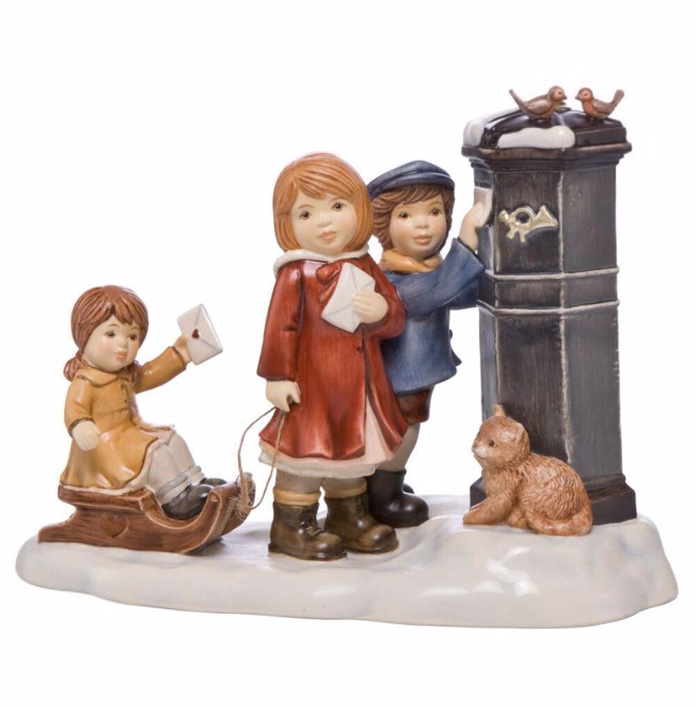 Goebel Ein Wintermärchen Unsere Wunschzettel 18cm Neu 2016 Kinder am Briefkasten