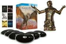 GAME OF THRONES Stagioni 1-6 BOX 27 BLURAY+Statuetta in Bronzo in Inglese NEW.cp