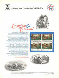 48-10c-Lexington-amp-Concord-1563-USPS-Commemorative-Stamp-Panel