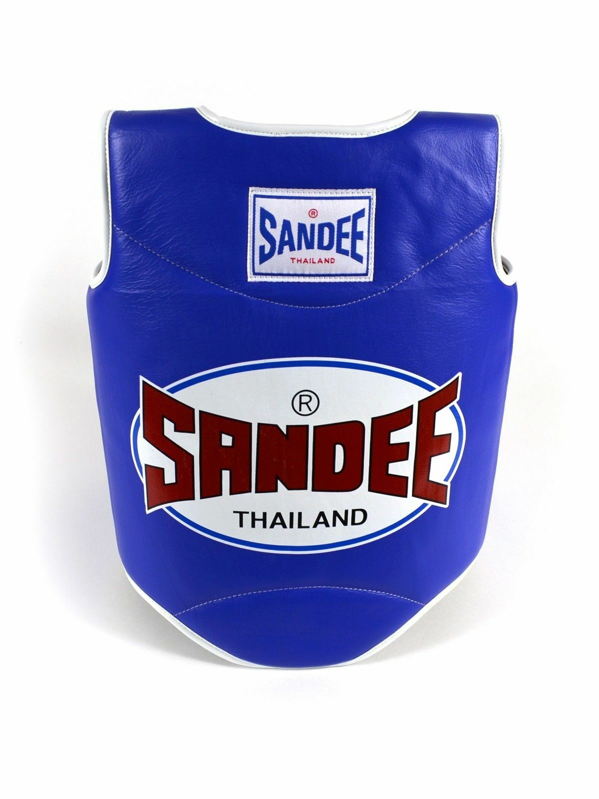 Sandee Blau & Weiß Synthetic Leder Authentic Body Shield Muay Thai