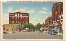 Government Street Looking West in Mobile AL Postcard