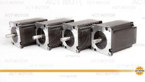ACT moteur GmbH 4pcs Nema 23 Step Moteur 23hs8840d8p1-c 4 a 2.2 Presque comme neuf φ 8 mm D-Shaft