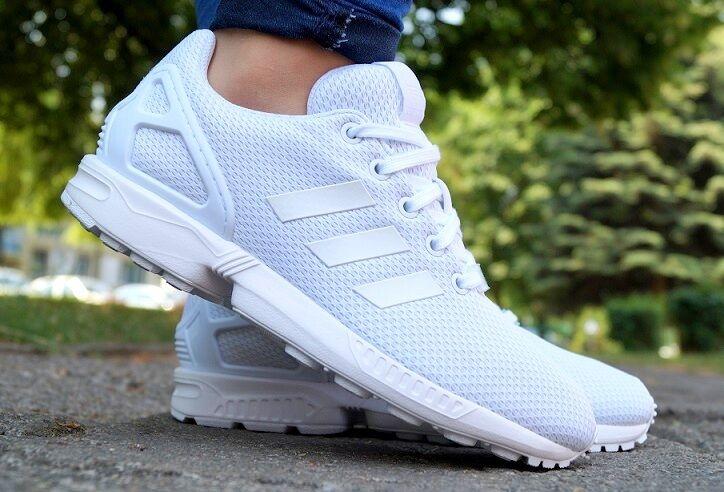 Nuevo zapatos adidas ZX Flux K cortos señora zapatillas de deporte Sport Weiss s81421 sale