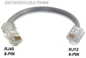 rj45 cat5 ethernet 8p8c 8 pin to rj12 rj11 6p6c 6 pin. Black Bedroom Furniture Sets. Home Design Ideas