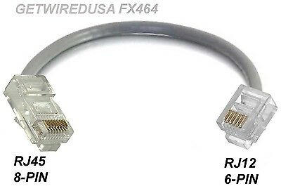 RJ45 CAT5 ETHERNET 8P8C 8-PIN to RJ12 RJ11 6P6C 6-PIN PHONE NETWORK ADAPTER  MALE | eBayeBay