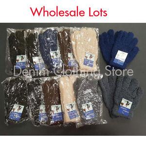 1~10 Dozen Men Women Fuzzy Cozy Furry Winter Warmer Knitted Gloves Wholesale Lot