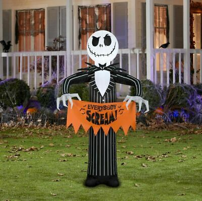 Nightmare Before Christmas Yard Inflatable Decor Scary Y Jack 5 Ebay