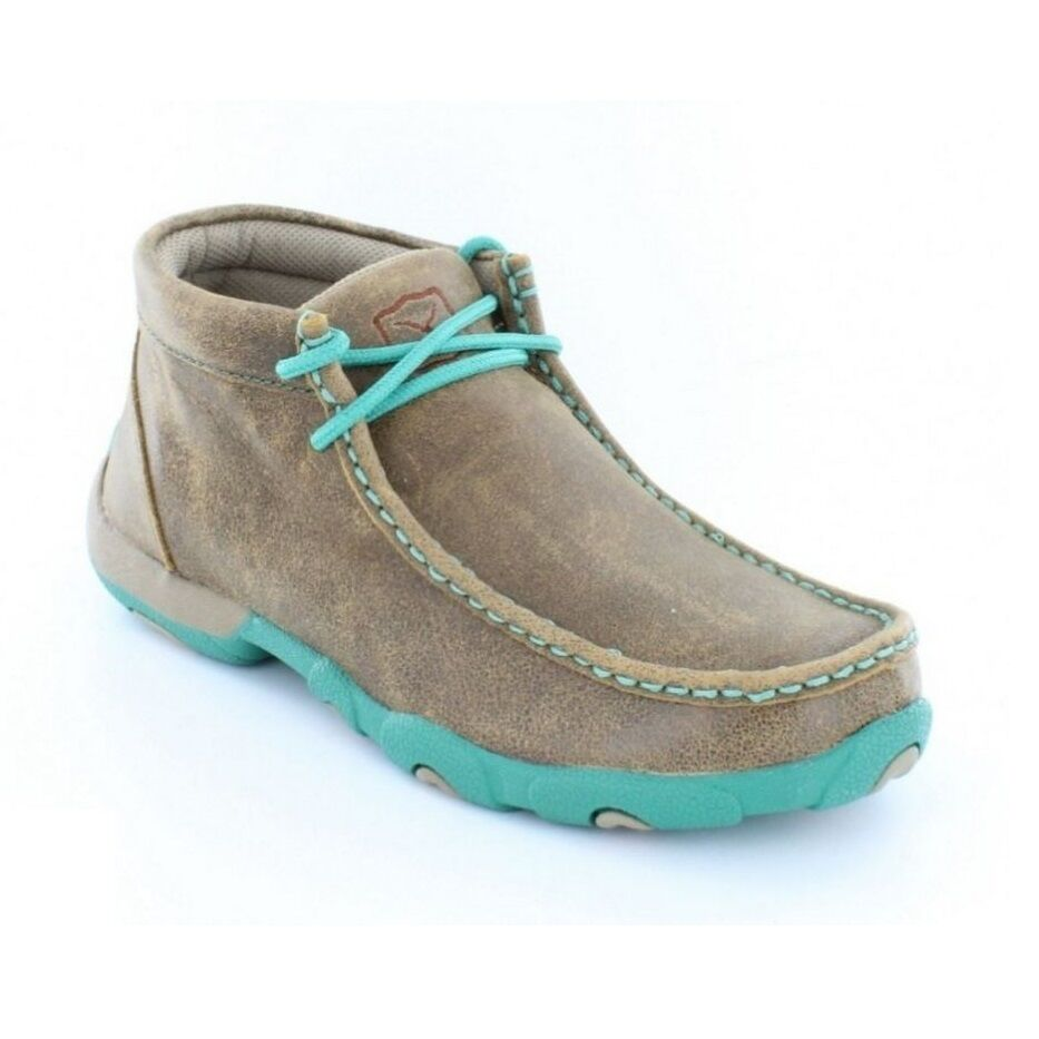 Twisted X X X Ladies Brown turquoise Driving Mocs WDM0020 c6f3b2