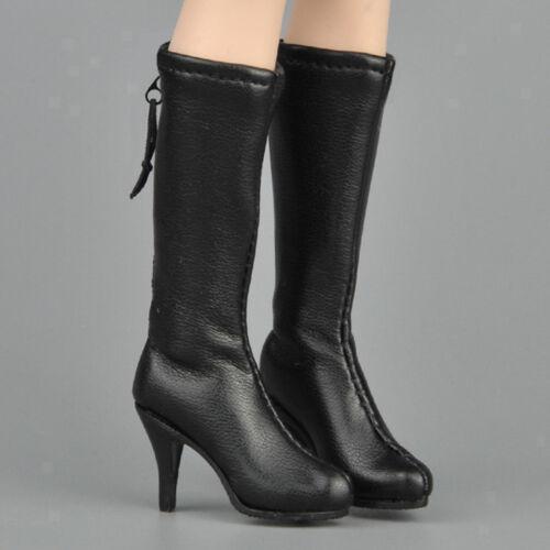 PU High Heel Kniehohe Stiefel Schuhe mit 1//6 Weibliche Aktion Figur Schuhe