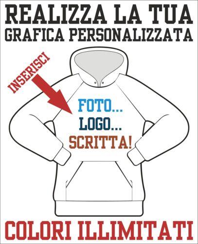 la tua immagine il tuo logo foto Felpa cappuccio con Grafica Personalizzata