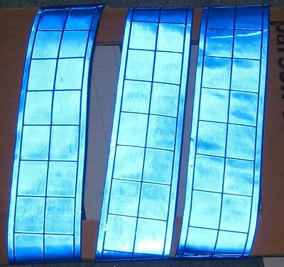 Blue gloss REFLECTIVE sew on TAPE PVC 3'x2""