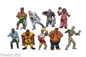 "ZOMBIE PLANET COMPLETE SET 9 Figures 1.5"" Toys Figurines Characters Zombies"
