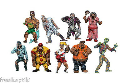 """ZOMBIE PLANET Set 8 Figures Figurines 1.5/"""" Toys Characters Zombies Walking Dead"""