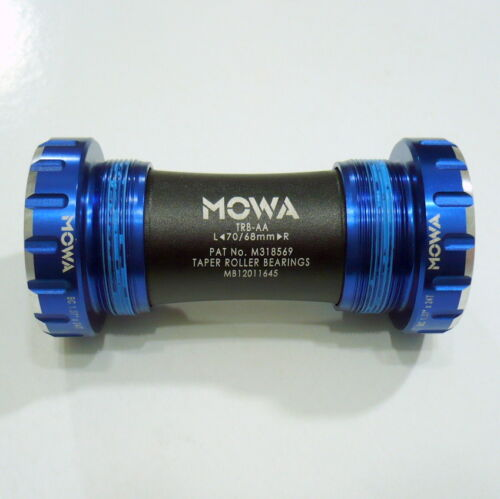 gobike88 MOWA TRB-AA Bottom Bracket for Shimano Road and compatible 983 Blue