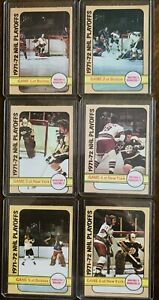 1972-73-Opc-O-Pee-Chee-Stanley-Cup-Game-Cards-All-6-Games-Bruins-Orr-Espo