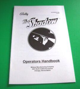 The-Shadow-Bally-Pinball-Machine-Mini-Handbook-Original-1994-Condensed-Info