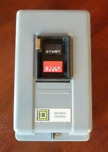 Square-D-3-pole-AC-Manuel-Starter-7-5-HP-200-230V-10-HP-380-575V
