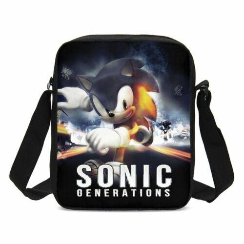 The Hedgehog Sonic Kids Schoolbag Large Backpack Insulated Lunch Bag Pen Bag LOT