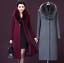 Winter-Elegant-Women-Cashmere-Wool-Blend-Trench-Overcoat-Fur-Collar-Long-Coats thumbnail 1