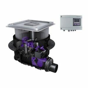 Kessel-Rueckstaupumpanlage-Pumpfix-f-24100X-Komfort-DN100-Einbau-in-Bodenplatte