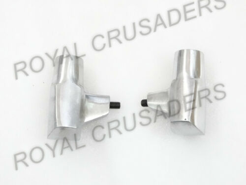 NEW LAMBRETTA LI//GP//SX//TV POLISHED ALLOY STAND FEET PAIR #VP557 CODE 4556