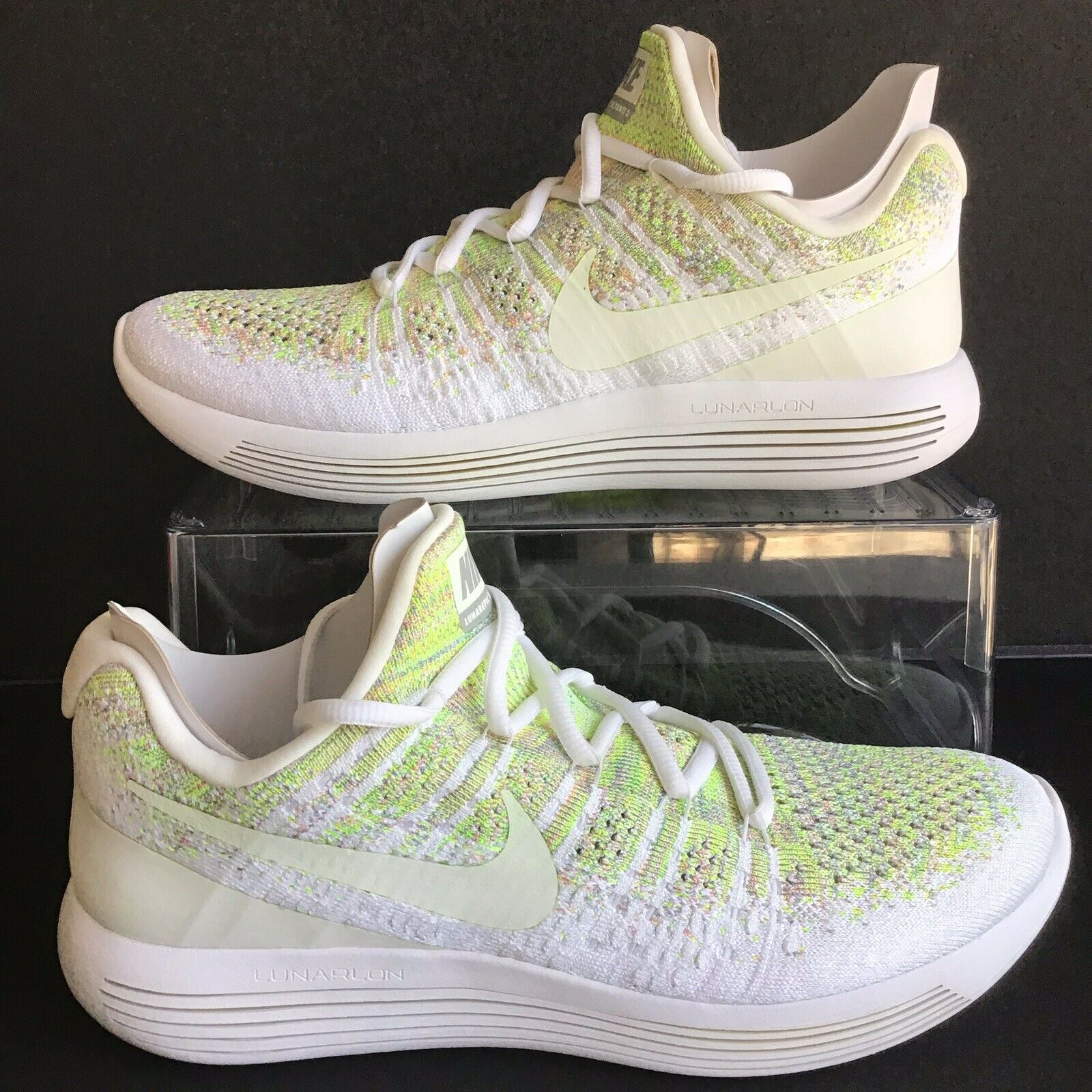 NIKE LUNAREPIC FLYKNIT 2 ID MULTI COLOR-WHITE MNS. SZ 10.5 (921531-994)