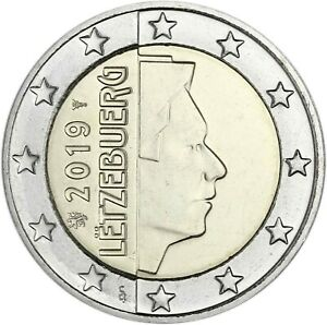 Luxemburg-2-Euro-2019-Kursmuenzen-bankfrisch