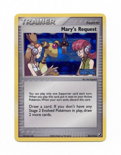 Reverse Holo Mary/'s Request 86//115 Ex Unseen Forces