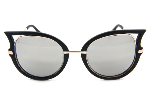 Cat Eye Oversized Fashion Style Women Sunglasses Mirrored Lens Oval Frame