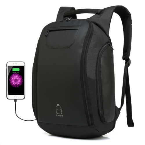 Men Travel Anti-Theft Laptop Backpack USB Charge Port College Bookbag School Bag