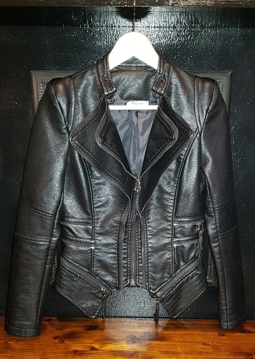 Giacchetto Ecopelle faux leather - Nero nero - Goth Biker Dark - TG 40 S