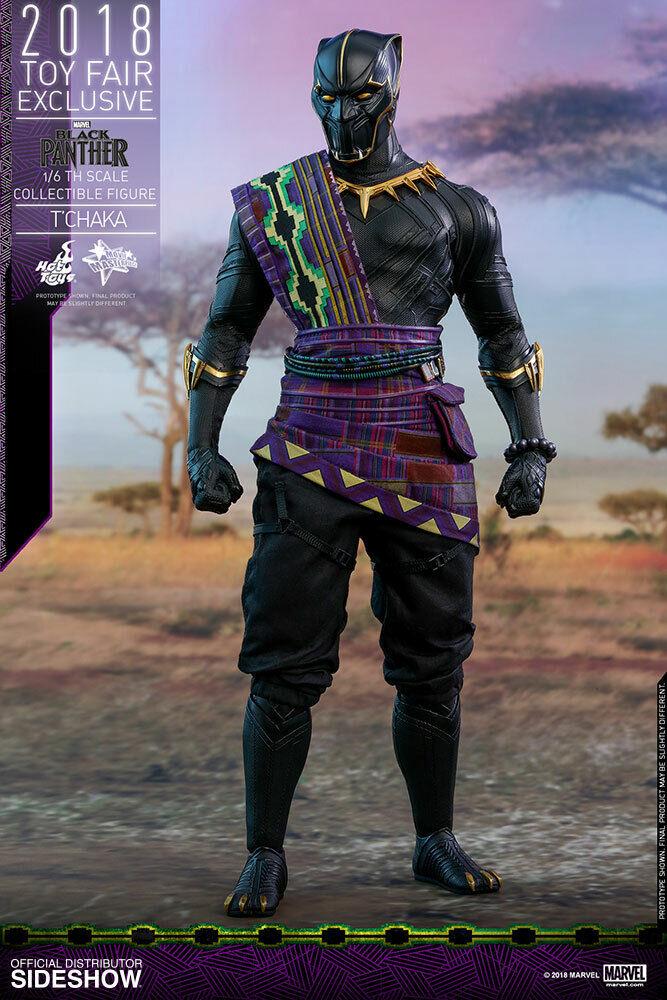 Marvel T ' Chaka Nero Panther 16 Scala cifra Caldo Giocattoli MIB