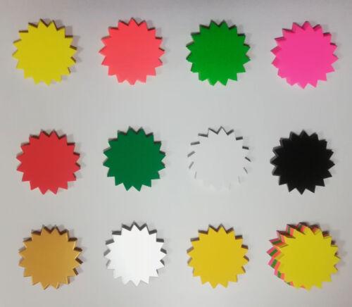 50 Rund Sterne 11 cm Preisschilder aus Karton Werbesymbol Schaufenster deko