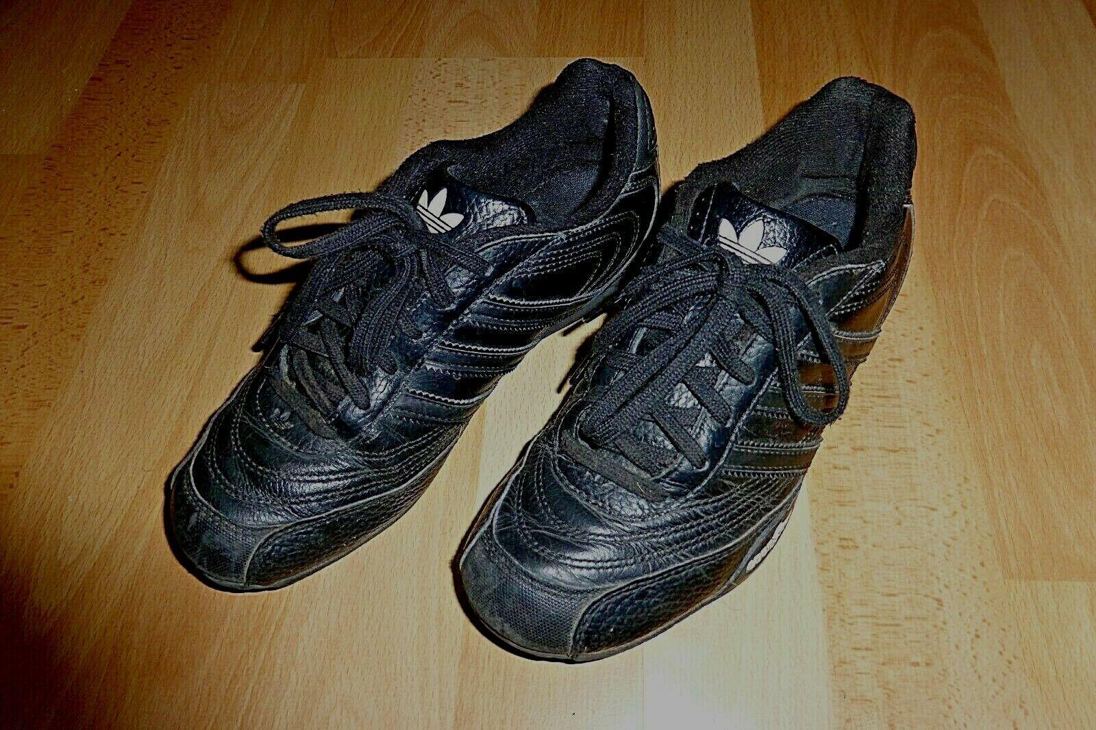*** adidas Sneaker Femmes Chaussures De Sport Taille 36,5 Noir en Cuir ***