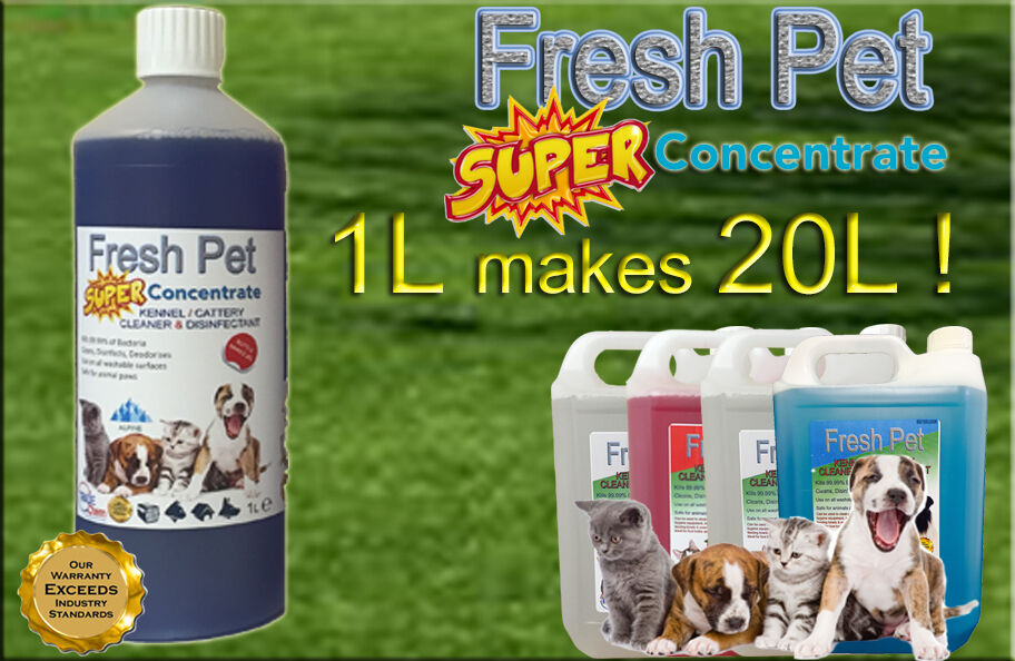 1L SUPER CONCENTRATE FRESH PET DISINFECTANT 1L = 20L  ALPINE