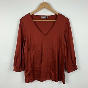 Sussan-Womens-Top-Size-Small-Long-Sleeve-Brown-Good-Condition