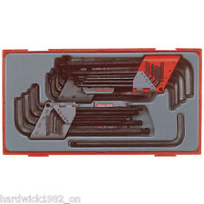 Teng Tools NEW 28 Piece Hex Allen Star Torx Key Tool Set + Tray Case
