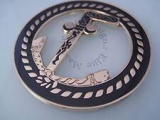 Two Ball Cane Masonic Cut out Car Auto  Emblem Free Mason Gold/B