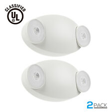 Led Emergency Light With Battery Backup Adjustable Two Round Heads Pack Of 2