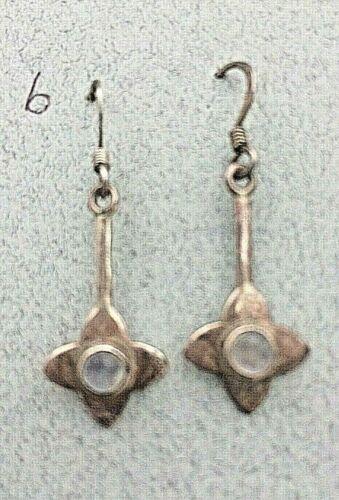 Pendientes de plata 925 Vintage Celta Corazón indio tortuga Ámbar Amatista Jade