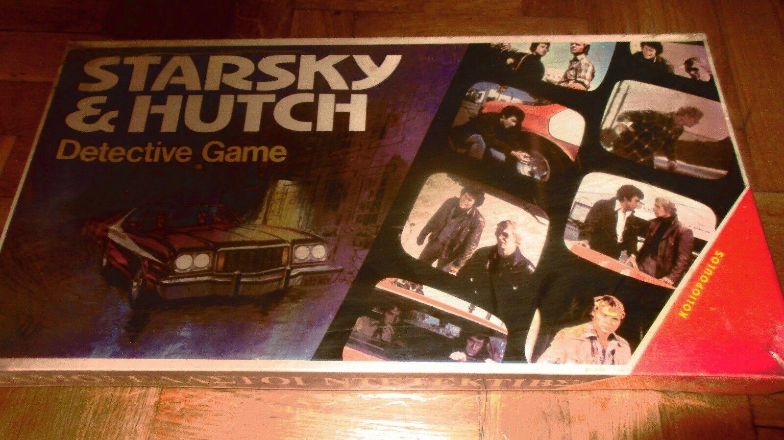 VINTAGE RARE GREEK DETECTIVE BOARD GAME STARSKY & HUTCH TV POLICE SHOW SEALED