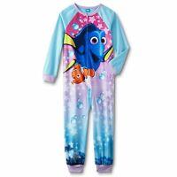 Finding Dory Girls Pajamas Size 6-10/12-14/16 Xl Zip Up Blanket Sleeper Nemo