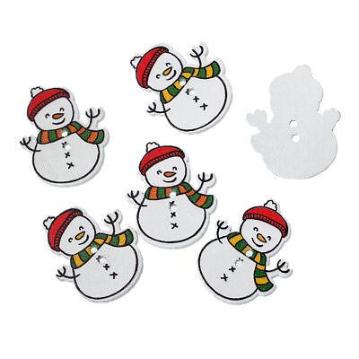 10 x Botones de Muñeco de Nieve Navidad 32 X 26 Mm-mismo día ** ** Gastos De Envío Gratis