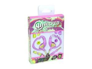 Wicked-WI-3152-MissFit-Earhugger-Sport-Earbud-Orchid-Lime-BONUS-TRAVEL-BAG