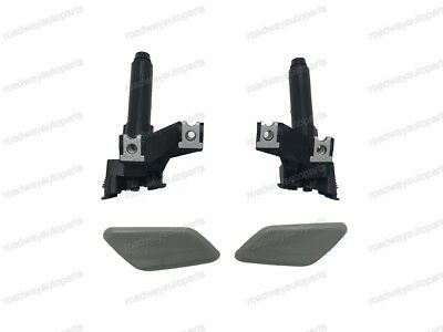 1Pair Headlight Washer Nozzle Cover Caps For Mitsubishi Outlander 2013-2015