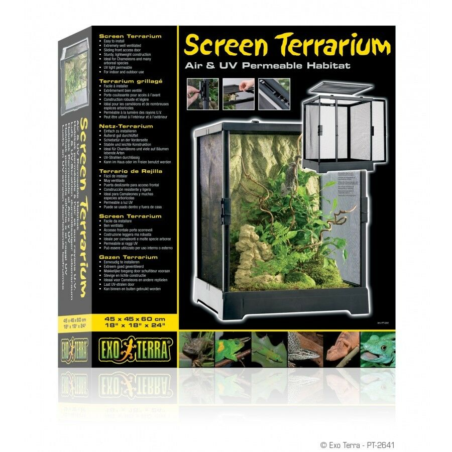 Exo Terra SCREEN Terrarium  45 x 45 x 60cm 18 x 18 x 24 PT2641