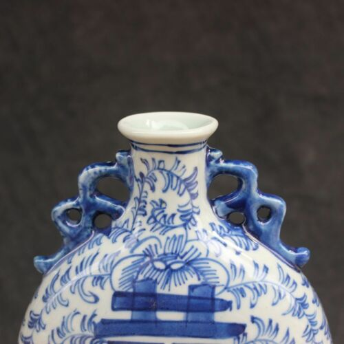 Exquisite China Blue and white porcelain Hand painting Double happiness Vases