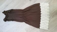 Valentino Women's sleeveless brown silk dress, new, size 40
