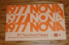 Original 1977 Chevrolet Nova Owners Operators Manual 77 Chevy